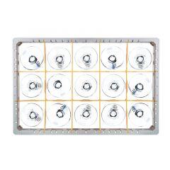 Fries Rack Korb CB für 15 Gläser Glashöhe bis 72 mm